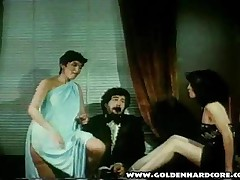 Vintage Hairy Pussy Rides On Cock
