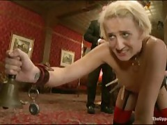 Blond Gets Tied Up And Dildo Fucked