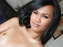 Super hot tranny likes playing with her amazing & hot body !