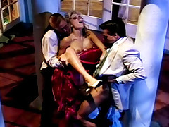 Peter penetrating this woman's wet pussy in exciting 3some