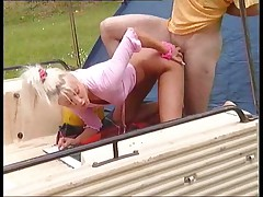 German Teen Fuck in the Garden
