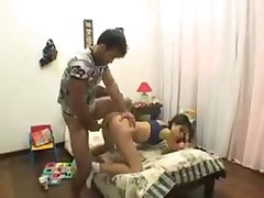 Brazilian teen spanked and fucked in the ass