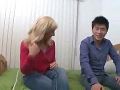 Young interracial couple