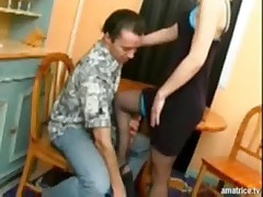 Blonde analfucked in stockings