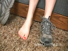 Sniff My Stinky Feet in Worn Sneakers
