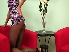 Russian teen pantyhose tease Belinda