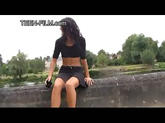 Julie teen upskirt outdoor