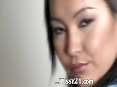 Mongolian schoolmate with hairy pussy