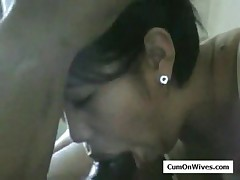 Asian wife deepthroat