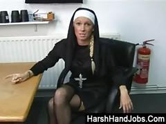 Biblical ball bashing from an angry nun