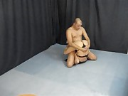 Austalian Mixed Thong wrestling