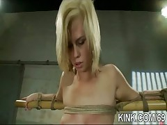 Hot pretty girl dominated in extreme BDSM sex