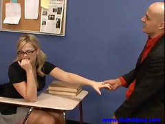 blonde student fucked by her Teacher 00