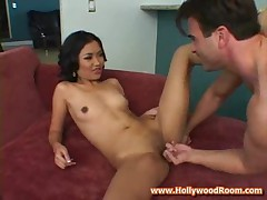 Asian raven has a wild pussy