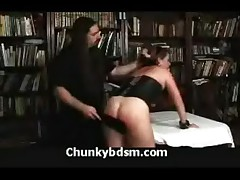 Chubby Corset Spanking