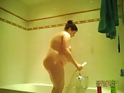 hidden spy cam of my ex in the shower