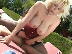 Horny hotties enjoying big hard cock