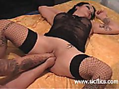 Brutal anal and vaginal fist fucked amateur slut