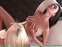Two beautiful lesbian stunners love each other