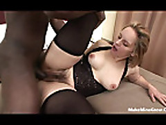 Mature bitch got a hairy pussy-1