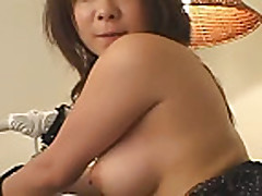Mosaic: Cutie japanese chick gets facial