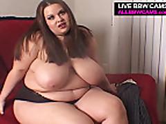BBW gets her first slutty interview