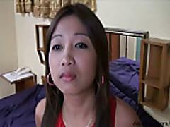 Slightly hairy Filipina Fucked and Creampied