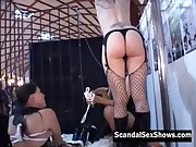 Goths and punk at a sex event showing off and give a live show