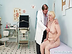 Chubby blond mom hairy pussy doctor exam