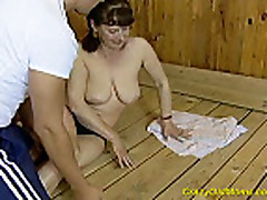 Crazy old mom gets hard fucked and does deep oral sex