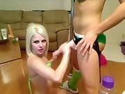 Lesbian teens face fuck with starpon dildo www.imporn.net