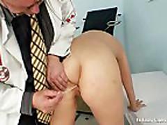 Big tits Alexa Bold very kinky gyno pussy speculum exam