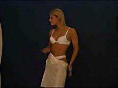 Blonde Teen Striptease
